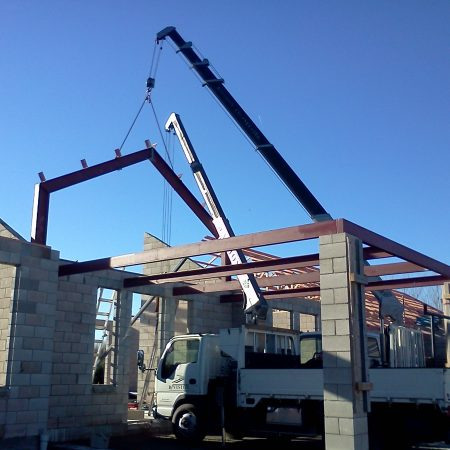 crane operation by Division structural steel fabrication company